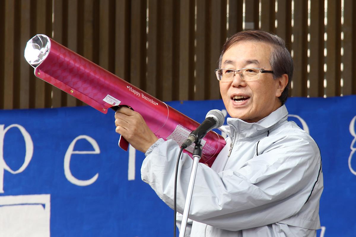 佐藤敬学長の開会宣言!