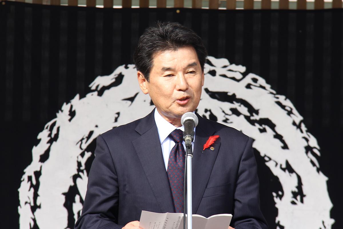 弘前市副市長 蛯名正樹様より式辞を頂戴しました