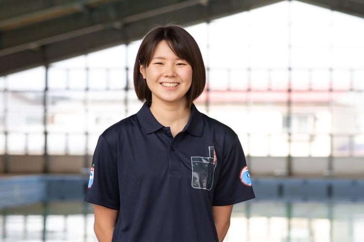 弘前大学水泳部 第53代部長・澤田有里さん(教育学部3年)。自由形の中距離200・400mがメイン