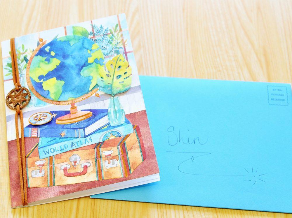 インターンシップ先の同僚からもらったメッセージカード