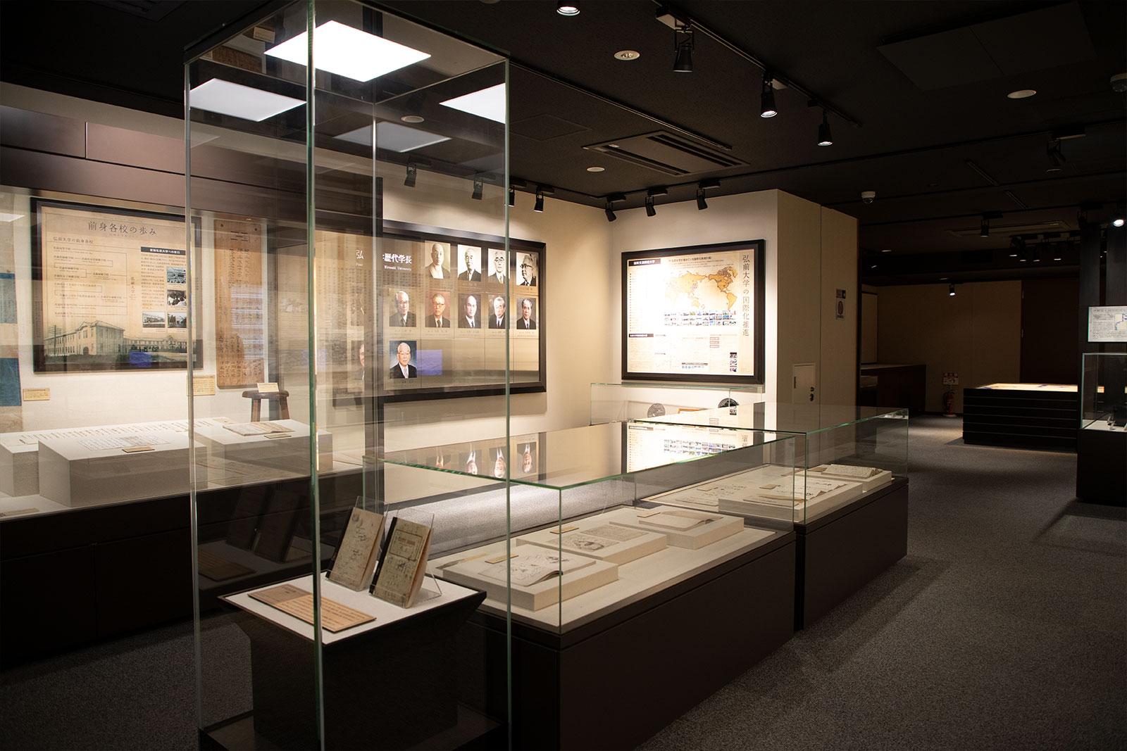 弘前大学資料館 入ってすぐの展示