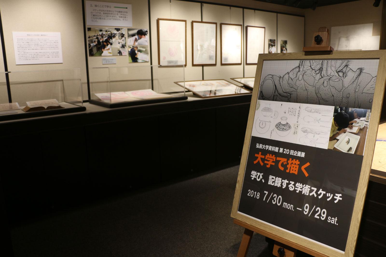 弘前大学資料館第20回企画展「大学で描く ~学び、記録する学術スケッチ~」