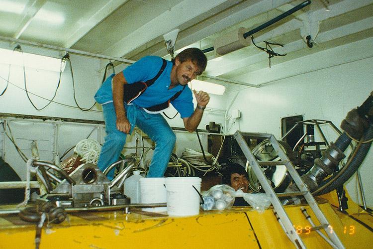 日仏共同研究での深海潜航艇に乗船