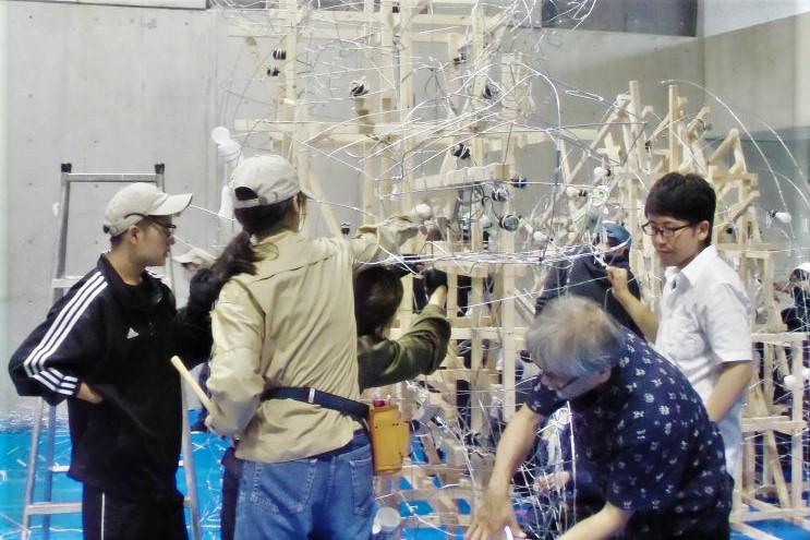 京都造形芸術大学での作業の様子
