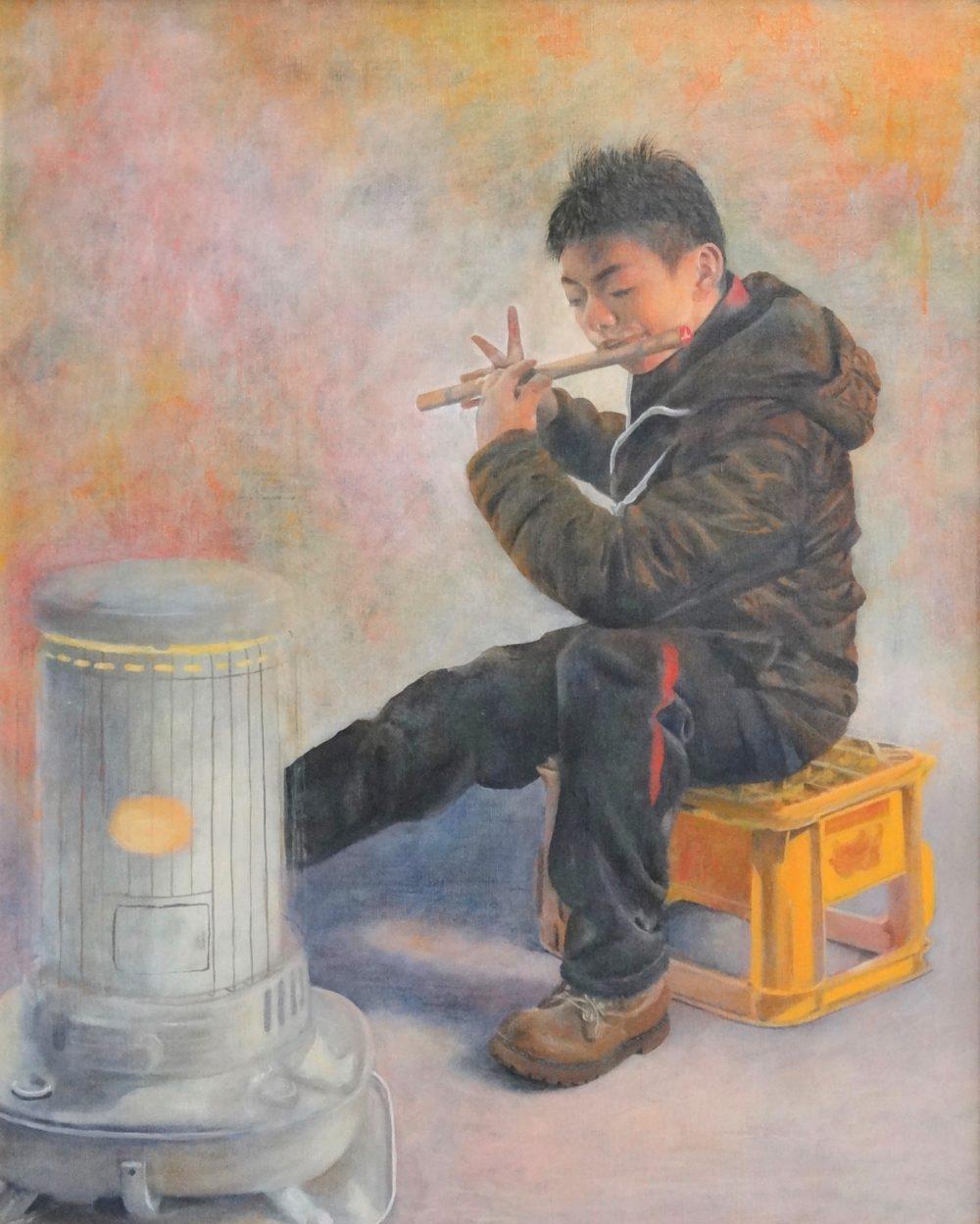 「第37回 青森県高等学校総合文化祭 美術部門」で優秀賞を受賞した作品(油絵)