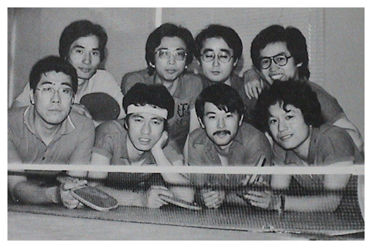 弘前大学在学中の卓球部のメンバーと