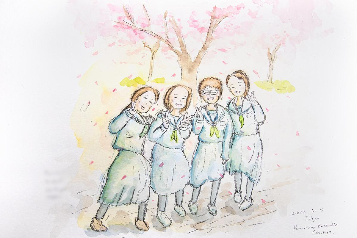 中学校の教員時代に描いた教え子の絵